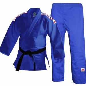 Adidas Judo Uniform - J250 GB Stripes Blue-0