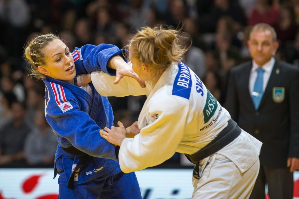 Two ladies in a Judo fight